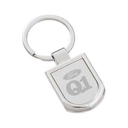 Premium Collection: Badge Engraved Metal Keychain