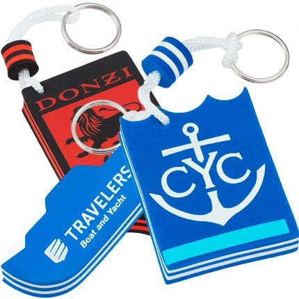 Custom Shaped Floating Color Foam Key Chains