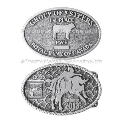 Custom Belt Buckles in Pewter