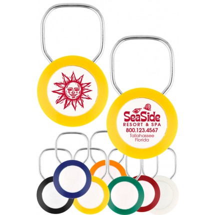 Logo Ring 2 Sided Color Keychains