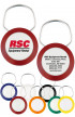 Business Keychains - Original Color Logo Ring 2 Sided Keychains