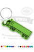 Semi Truck Shaped Vinyl Keychain