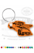 Tow Truck Shaped Vinyl Keychain