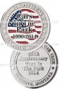Custom Coin With Soft Enamel And Sandblast Plating Car Club