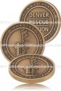 Custom Made Challenge Coins - Antiqued Plating