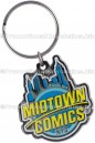 Custom Made Keychains Artisan Black Series™ Color Enamel Metal Keychain for Midtown Comics NYC