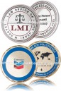 Solid Brass Die Struck Coins manufactured for LMI Law and Chevron Corporation