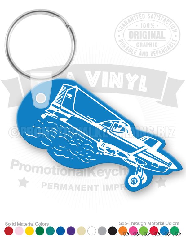 Airplane Duster Shape Vinyl Keychain