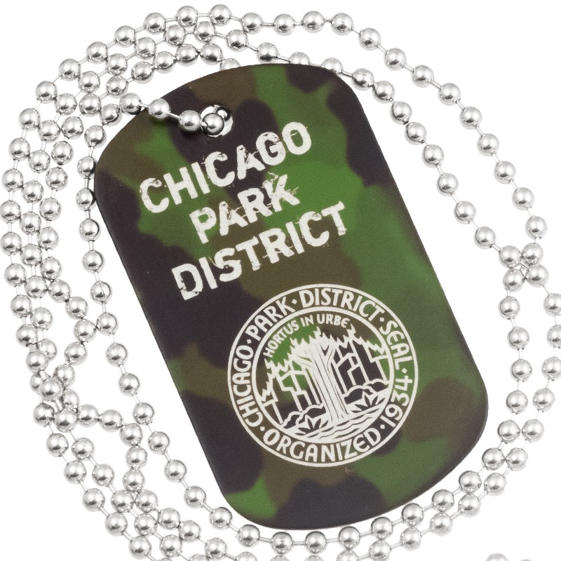 camouflage dog tags with custom engraving green army camo