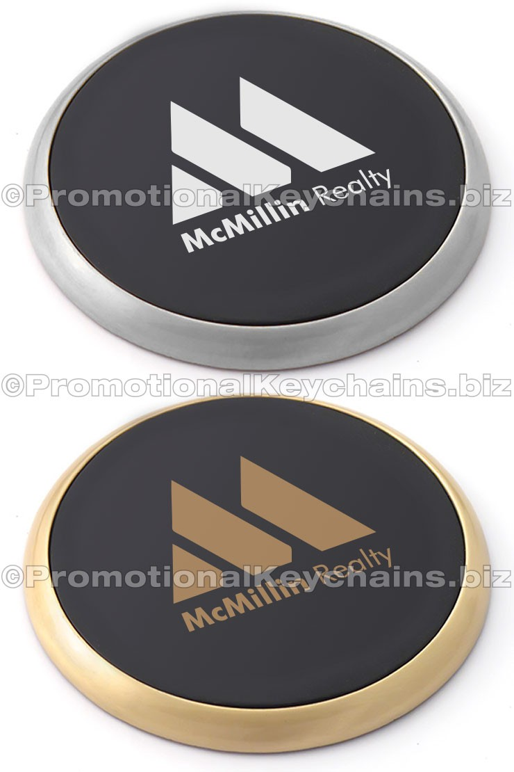 Classic Leather And Metal Drink Coasters