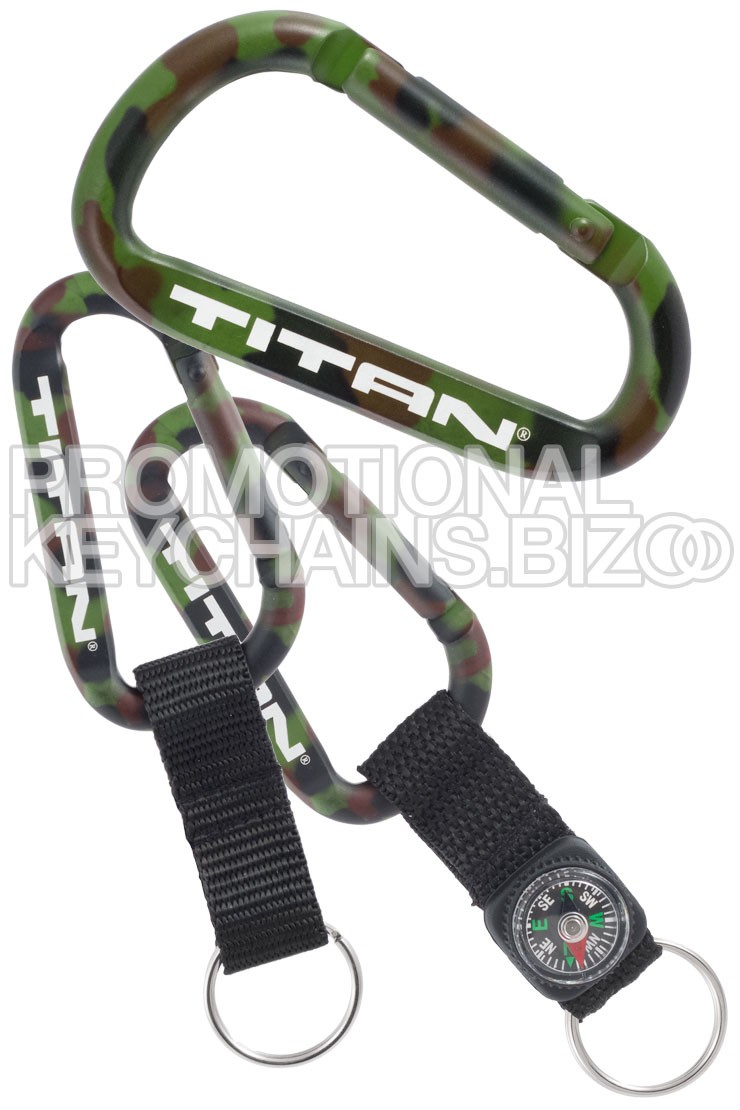 Camouflage Carabiner Keychains