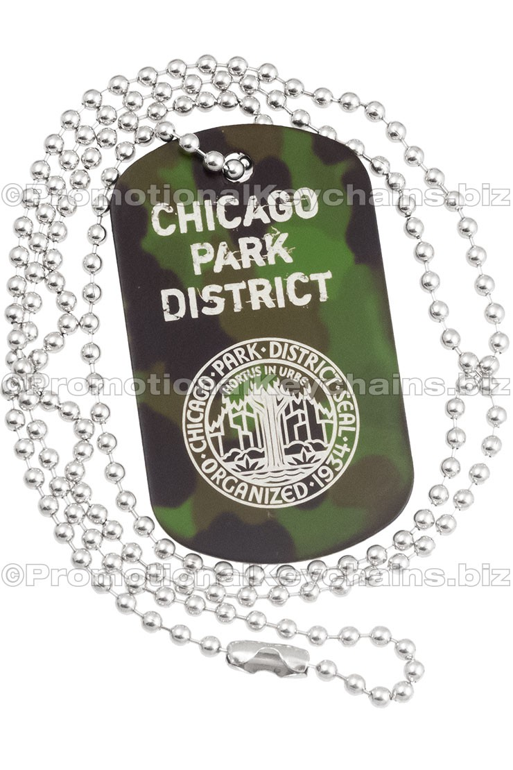 Camouflage Engraved Dog Tag