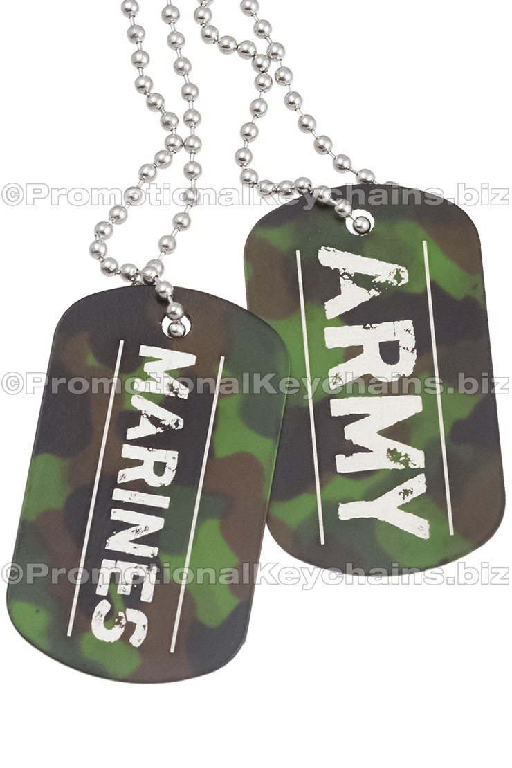 Camouflage Dog Tags With Custom Engraving Green Army
