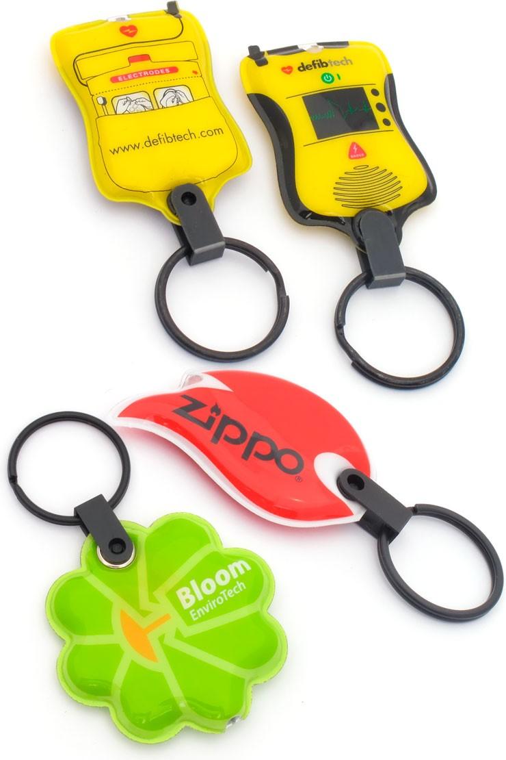 Custom Keychains Logo Shaped LED Squeeze Light