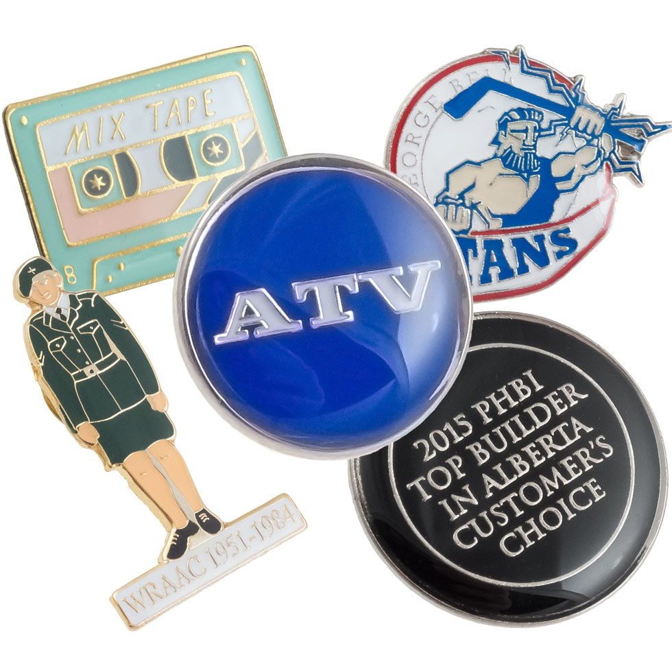 Classic Raised Metal with Epoxy Lapel Pins