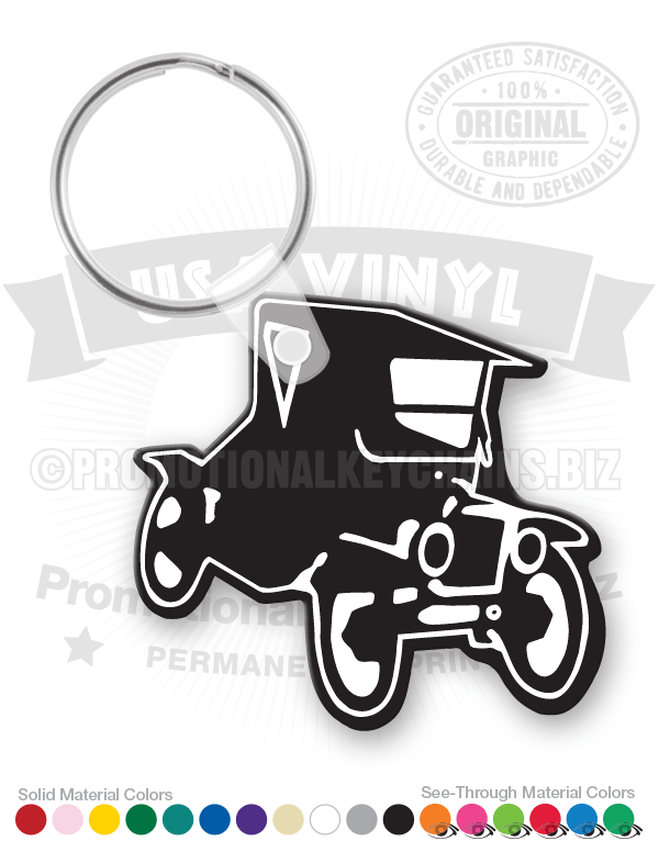 Antique Car Shape Vinyl Keychain