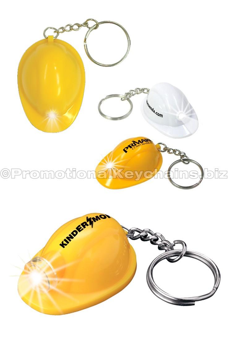 Mini Hard Hat Keychain LED Flashlight