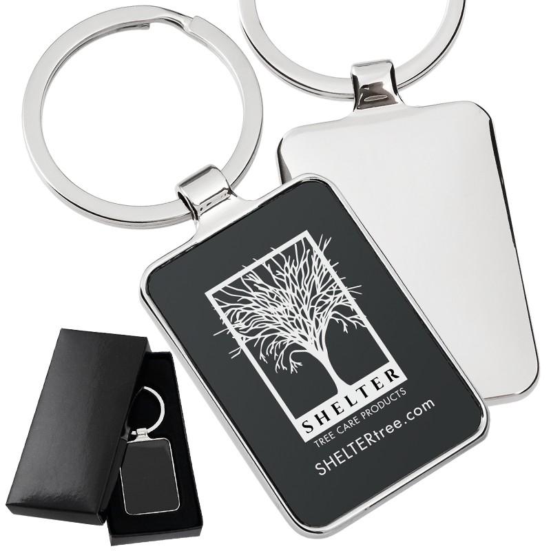 ... Black Series Rectangle Engraved Metal Promotional Keychain ... 0b14d3af8