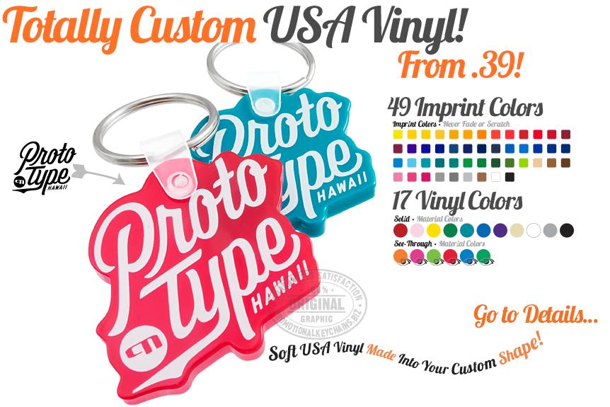 Custom Die Cut Vinyl Keychain Banner