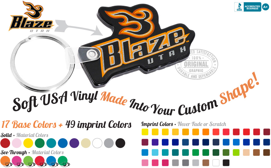 Custom Shaped Vinyl Keychains Banner