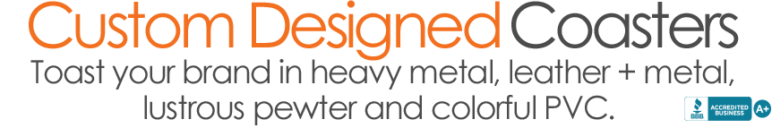Custom Designed Coasters Category banner