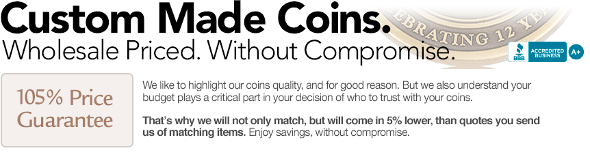 Custom Coins and Guarantee Banner