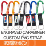 Engraved Carabiner + Custom PVC Strap = A Winning Combination
