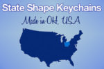 Show Your State Pride With Our USA State Shaped Keychains